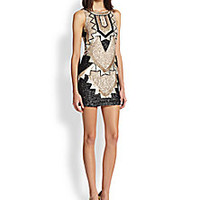 needle & thread - Art Deco Beaded Mini Dress - Saks Fifth Avenue Mobile
