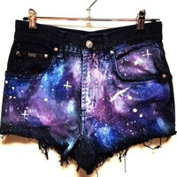 Galaxy Denim Shorts