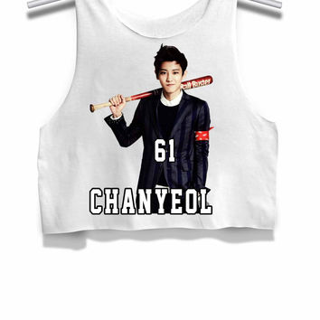 Chanyeol 61 Exo Womens Crop Tank Top