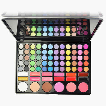 Dreaming Trandy 78-Color Eye Shadow/ Blusher/Bronzers Make-Up Disc With Mirror