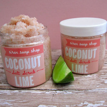 Coconut Lime Pink Salt Scrub, Body Scrub