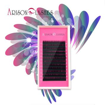 Arison lash 2017 new design1 Case All Size C D B J curl eyelash extensions false mink black fake false eyelashes bend