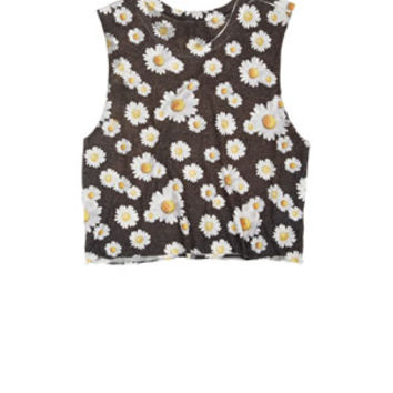 Allover Daisy Tank - Black