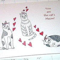 Anniversary Card Cats Kitties You Are the Cat's Meow
