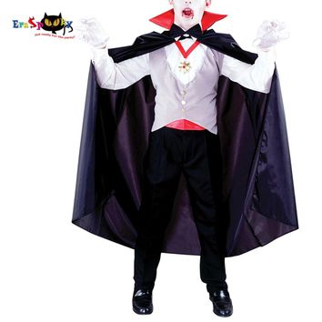 Boys Vampire Costume Classic Halloween Scary Costume For Kids Dracula Fancy Dress Outfit Gothic Children Carnival Cosplay