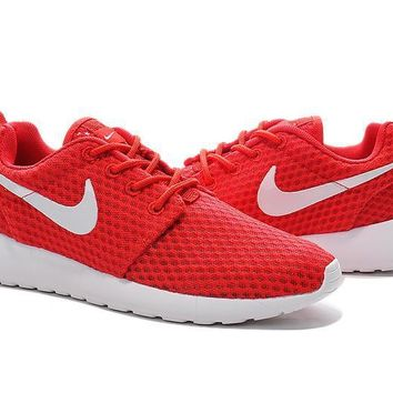"""Nike Roshe Run BR"" Women Sport Casual Honeycomb Net Cloth Breathable Sneakers Running"