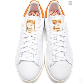 CREY9N Unisex Men & Women Casual Sport Print Adidas Stan Smith Shoe Orange