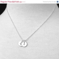 Vac Sale will ship 8/6 Letter f Necklace with Heart, Sterling Silver Jewelry, Tiny Initial Necklace, Tiny Heart Necklace, Charm Necklace, Ha