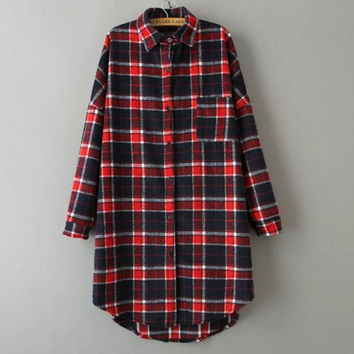 Shop Womens Red Flannel Shirt on Wanelo