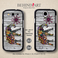 Samsung Galaxy S4 case, Samsung Galaxy S3 case, Phone Cases, Phone Covers, Skins, Case for Samsung, Elephant-A0117
