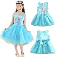 Fashion Children Dress Kids Party Dress Vestidos Cosplay Baby Elsa Girls Princess Dresses Kids Christmas Anna Kids Party Dresses