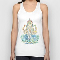 Ganesh  Unisex Tank Top by Kristy Patterson Design