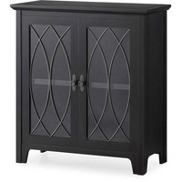 Dining and Accent Cabinet, Black - Walmart.com