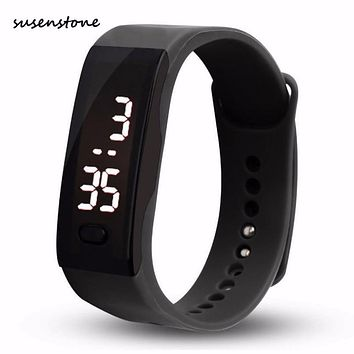 Susenstone Fashion Unisex Mens Womens Watch Rubber LED Date Sports Bracelet Digital Wrist Watch Simple Clock Relojes Hombre Y25