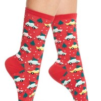 Hot Sox Trees on Cars Socks (3 fro $15) | Nordstrom