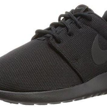 Nike Womens Roshe One running shoe Black/Black/Dark Grey 8.5