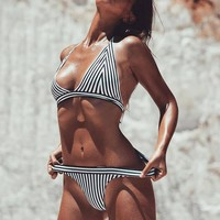 Summer Hot Beach Swimsuit New Arrival Stripes Swimwear Sexy Bikini [11767366031]