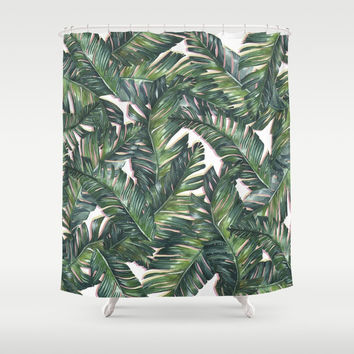 banana leaf 3 Shower Curtain by Mark Ashkenazi