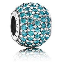 Pandora Teal Pave Lights Charm
