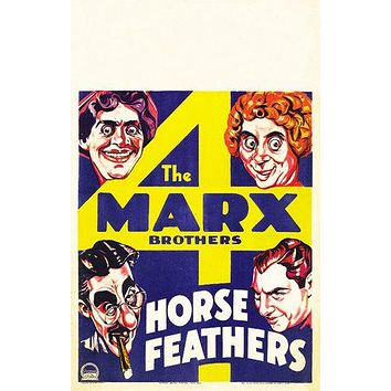 Horse Feathers Poster//Horse Feathers Movie Poster//Movie Poster//Poster Reprint