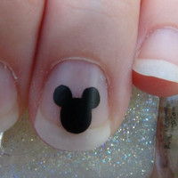Mickey Mouse Nail Art Decals Set of 20 Vinyl Stickers Applique Manicure Pedicure Party Event Accessories