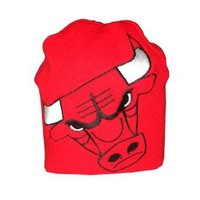 NBA Chicago Bulls Adult Warm Ski & Skate Beanie / Winter Hat - One Size Fits All - Red