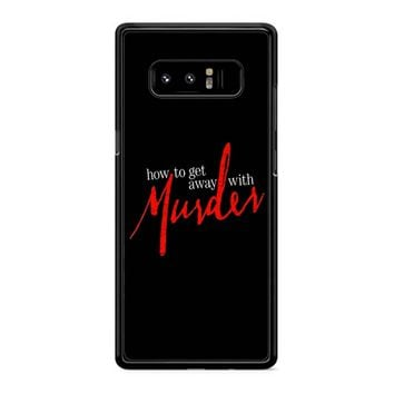 How To Get Away With A Murderer Samsung Galaxy Note 8 Case
