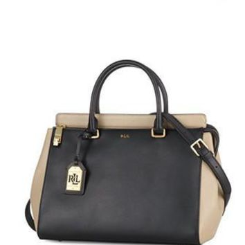 Lauren Ralph Lauren Whitby Large Colorblock Satchel