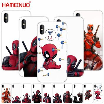 Deadpool Dead pool Taco HAMEINUO 3D Super Cool Marvel  cell phone Cover case for iphone X 8 7 6 4 4s 5 5s SE 5c 6s plus AT_70_6