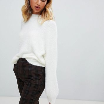 New Look Fluffy Jumper at asos.com