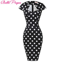 Belle Poque Women Plus Size Dresses Rockabilly Clothing Floral Summer Casual Party Office Sexy Pencil 50s Vintage Bodycon Dress