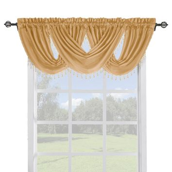 GOLD Soho Waterfall Window Treatment (Single Panel or Valance)