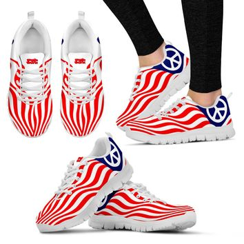 Pop Worx Peace Flag (White Sole) Sneakers