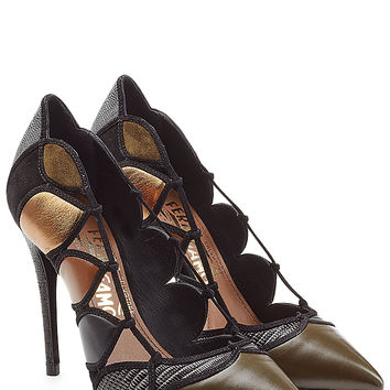 Salvatore Ferragamo - Leather Pumps with Cut-Out Detail