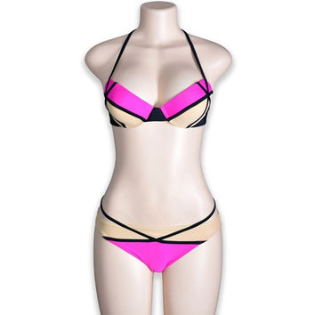 New Arrival  Women Neoprene Wet Suit Bikini Swimsuit Swimwear = 1715745476