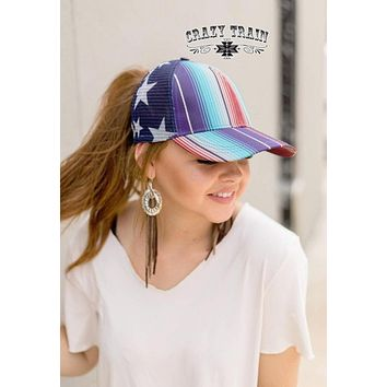 US Air Force Messy Bun Cap by Crazy Train