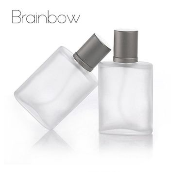Brainbow 1pc 35ml Empty Refillable Portable Perfume Bottle &Traveler Glass Spray Atomizer Transparent Frosted Parfum Bottles