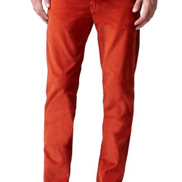Levi's 511 Slim Picante Corduroy Pants - Mens Jeans - Red