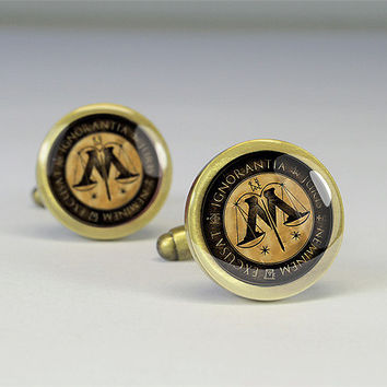 Harry Potter ministry of magic cuff link,Harry Potter cuff-links,Harry Potter cufflinks- C0310