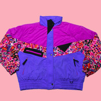 Vintage 90s Pink/Purple Skiing/Snowboarding Jacket WOMENS Size Large