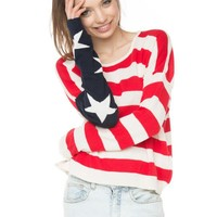 Brandy ♥ Melville |  Cassidy American Flag Sweater - Just In