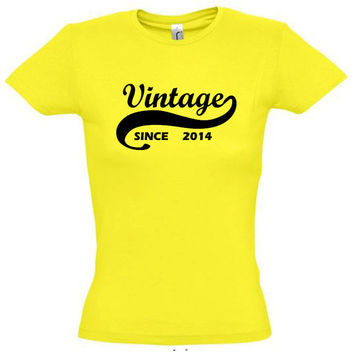 Vintage since 2014 (Any Year),gift ideas,humor shirts,humor tees,birthday gift,birthday shirt,vintage shirt,gift for husband,cotton shirt