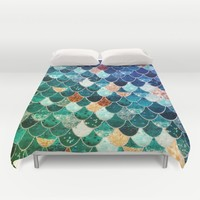 REALLY MERMAID TIFFANY Duvet Cover by Monika Strigel | Society6