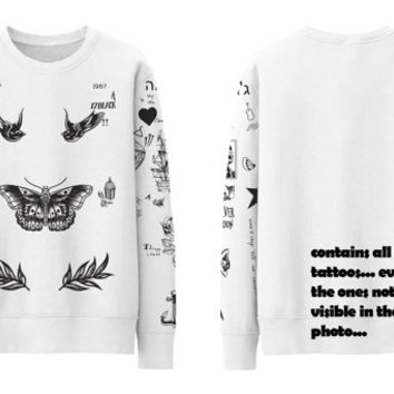 Harry Tattoo Sweater New in White