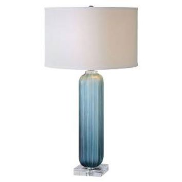 Caudina Frosted Blue Glass Lamp : Target