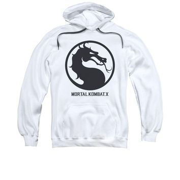 Mortal Kombat X Dragon Seal Game Logo Licensed Adult Pullover Hoodie