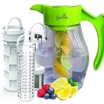 Fruit Tea Infusion Flavor Pitcher - FREE Infuser Recipe Ebook - Water tea in