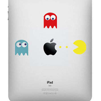 Pacman -- iPad Decal iPad Sticker Art Vinyl Decal for  iPad 1 / iPad 2 / iPad 3/iPad 4/ iPad mini / Macbook Pro / Macbook Air