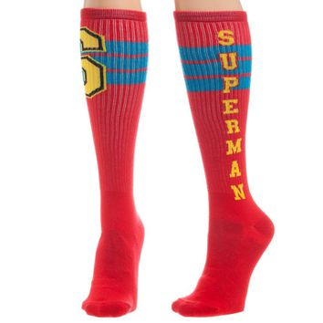 Superman Varsity Knee High Socks