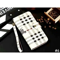 LV & GUCCI & Burberry Tide brand lanyard iPhone6 flip phone case cover #6